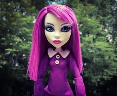 Purple and Green (welovethedark) Tags: green doll purple spectra mattel iphone creepydoll iphonephoto spectravondergeist ghoulsgetawayspectra