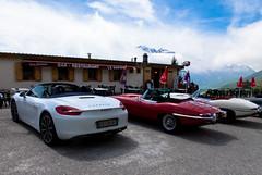 Col du Mont Cenis (turbodiesel) Tags: spyder porsche jag jaguar boxster etype jaguaretype porscheboxster