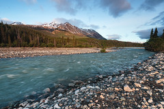 Victoria Creek Sunrise (Canorka) Tags: kluane river park canada yukon sunrise dawn forest mountain