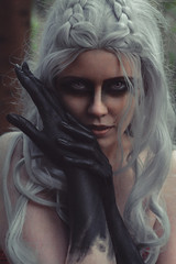 Witch (re-l_mair) Tags: witch canon eos7d eyes beauty nature forest portrait face hair people strange girl photography