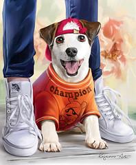 Champion (Kajenna) Tags: jackrussell terrier puppy dog champion psp tube digital drawing painting kajenna