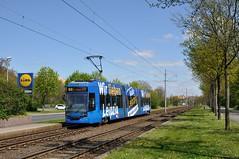 LVB 1127, Leipzig Stuttgarter Allee, 02-05-2016 (Michael Postma) Tags: radio tram leipzig wir allee lieben lvb leipziger verkehrsbetriebe stuttgarter strasenbahn ngt8
