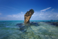 Rock (jonathan charles photo) Tags: bermuda elys harbour rocks limestone tower erosion coastal landscape art photo jonathan charles topf100