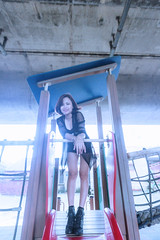 KUN_5368@ () Tags: portrait woman cute sexy beauty nikon dress g wide wideangle brunette charming taoyuan f4 vr  1635 1635mm          d3s  nikonafsnikkor1635mmf40gedvr  sarastyle