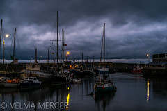 All settled down for the night. (Velmerc) Tags: ireland cloud water night dark harbour yachts masts balbriggan