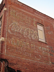 Coca-Cola Ghost Sign, Fort Dodge, IA (Robby Virus) Tags: sign five ghost ad coke iowa advertisement faded cents signage cocacola fatigue fortdodge relieves