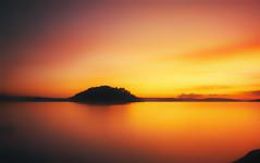 sunset (photoenthusiasm) Tags: sunset orange landscape mood sweden hasselblad zen swc phaseoneh25