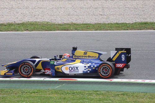 Felipe Nasr in GP2 action at the 2013 Spanish Grand Prix
