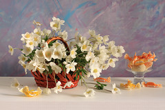 I'm Youth, I'm Joy (panga_ua) Tags: flowers light stilllife orange white art composition canon spectacular spring artwork basket artistic sweet availablelight joy may ukraine poetic creation imagination natalie wildflowers bouquet anemones candies arrangement springflowers tenderness tabletop bodegon naturemorte panga artisticphotography rivne naturamorta artphotography sharpfocus whitetabletop  nataliepanga glassfootedbowl pastelsbackground imyouthimjoy