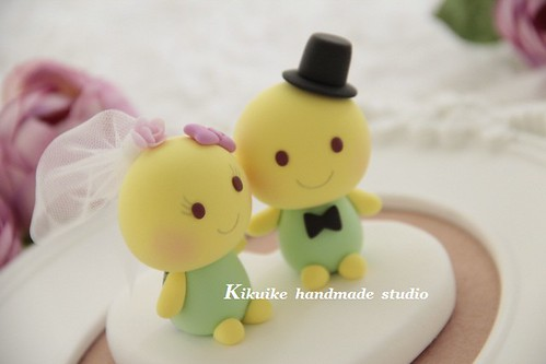 bride and groom turtles Wedding Cake Topper