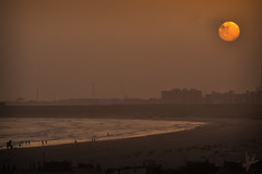 Karachi Sunset (Affan A.Khan) Tags: pakistan sunset beach photography karachi clifton factorypollution