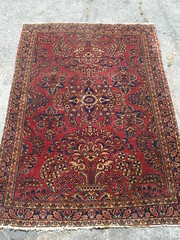 "PERSIAN SAROUK RUG, GOOD CONDITION. • <a style=""font-size:0.8em;"" href=""http://www.flickr.com/photos/51721355@N02/8881571733/"" target=""_blank"">View on Flickr</a>"