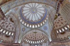 Istanbul - Mosque bleue (ClaudeVoyage) Tags: blue turkey istanbul mosque bleu turquie mosque