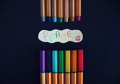 The Colours Of My Eyes (Ai in Technicolor) Tags: rainbow colours peace minimal pace pens colori arcobaleno stabilo parole colourfull