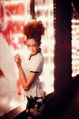 Spotlight (jessicakobeissi1) Tags: summer girl beauty photoshop canon photography 50mm model downtown michigan detroit spotlight retouching tutorial boken
