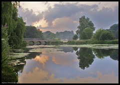 5 Arches (Steve Denny) Tags: uk bridge trees lake reflection clouds reflections river countryside pond sony fivearches stpaulscray rivercray sonydslr