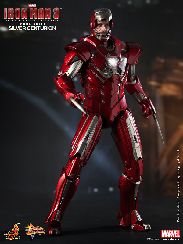 Hot Toys - 鋼鐵人3:馬克33 - 銀色百夫長(Silver Centurion)
