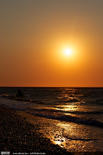 Sunset at Ialysos Beach