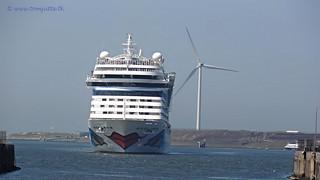Cruise ship navigates into the lock at IJmuiden, Netherlands - 2001