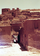 (auspices) Tags: game me set 35mm lomo pentax under super morocco exposed ait thrones benhaddou redscale