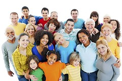 Large Group of Happy People standing together. (pilignk) Tags: above family portrait people black men senior smiling standing laughing children asian fun togetherness team women colorful friendship adult crowd group young pregnancy diversity happiness lookingup mature teenager casual cheerful ethnic isolated ethnicity caucasian embracing humanface largegroup multigenerationfamily globalcommunications mixedage