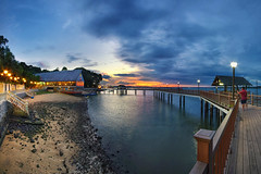Stormy Warmth (bing dun (nitewalk)) Tags: sunset panorama night singapore pentax changi tbd changibeach changibeachclub nitewalk bingdun