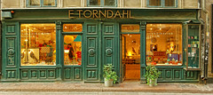 Scandinavian Design (Charn High ISO Low IQ) Tags: door windows sweden stockholm gamlastan scandinavia oldtown touristattraction souvenirshop shopfront photostitch shoppingstreet canon6d
