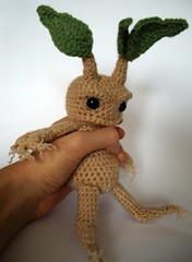 Mandrake by MaffersToys (MaffersToys) Tags: bear cute strange toy weird knitting teddy witch crochet harry potter creepy fantasy demon etsy amigurumi witchcraft pagan mandrake