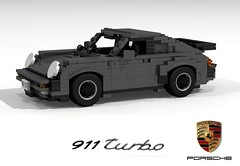 Porsche 911 Turbo (Typ 930) (lego911) Tags: auto classic car germany model lego render tail 911 71 turbo german porsche 1975 70s boxer whale 1970s challenge cad 930 carrera lugnuts spoiler povray moc ldd miniland foitsop lego911 super70ssensation