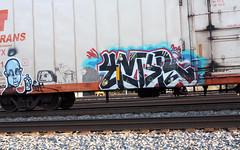 (No Real Name Given.) Tags: railroad art train graffiti rails boxcar freight rolling reefers cryo benching cryos