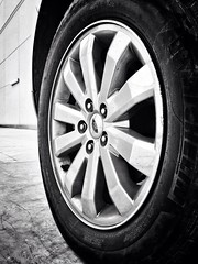 Ford edge (na9er.a.k) Tags: white black ford car rim iphone jubail egde     jalmudahdistrict