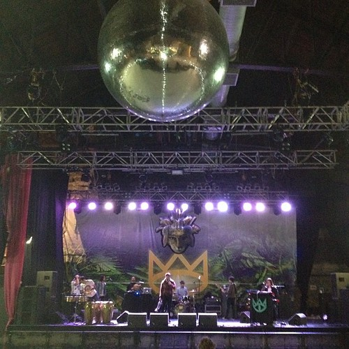 Giant mirror ball tonight!