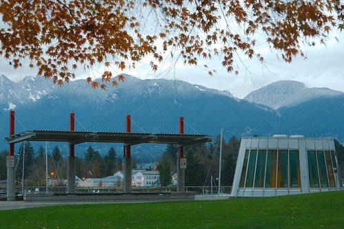 Grouse Mountain from the Coal Harbour Community Centre