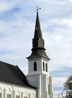 The steeple of Emanuel African Methodist Episcopal Church, Charleston,