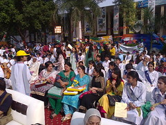 Inauguration ceremony (Batool Nasir) Tags: pakistan woman students girl festival children women teacher lahore girlchild batoolnasir clf2013