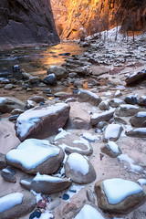 Lucid Dreams (Eddie 11uisma) Tags: park winter snow river landscapes utah glow virgin national zion eddie narrows lluisma