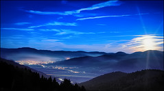 Moon over ...... (Lolka2) Tags: moon night landscape deutschland nacht schwarzwald blackforest kinzigtal zellamharmersbach nikond3