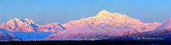 s 664A4161 McKinley Morn (Ed Boudreau) Tags: winter sunrise landscape panoramic glacier pinksky mountmckinley ruthglacier alaskalandscape