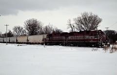 WSOR 3809 & 3810 (L595) (SW Rail Photos) Tags: train oshkosh emd gp382 wsor wisconsinsouthern l595 localfreight winterrailroading