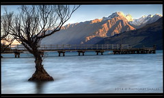 """What lies ahead will always be a mystery -  do not be afraid to explore"" (PhotoArt Images) Tags: mountains pier le nz glenorchy nzsouthisland photoartimages"