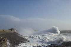 Rush back (Tim Bow Photography) Tags: uk winter sea lighthouse seascape water wales canon waves britain awesome british welsh storms swell porthcawl 2014 wildwinter welshlandscapes massiveswell timboss81 timbowphotography february2014 wildukweather galeforcewindsbattertheuk ukbatteredbystorms porthcawlpierphotography
