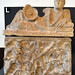 Alabaster cinerary urn of Vel Remzna Crespe with the murder of Clytemnestra (1)