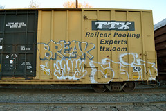 (huntingtherare) Tags: train graffiti break boxcar freight ttx yova