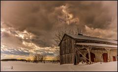 Old Barn (D-TaiL) Tags: old winter sky barn vintage landscape nikon flickr ciel grange d7000 dtailvision