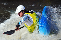 National Student Rodeo 2014 33 (Ice Globe) Tags: nottingham white colour sports water festival boat student nikon whitewater university kayak play paddle jackson palm national kayaking rodeo colourful dagger watersports splash paddling pgl holme 2014 nsr universities playboat playboating pierrepont pyranha 55300mm d5100