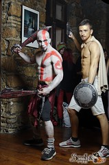 Muscular cosplays: Kratos and co.  at Akai Panda's Carnival Cosplay Party (SpirosK photography) Tags: party portrait game bar cafe pub photoshoot cosplay muscular videogame godofwar kratos videogamecharacter costumeplay ostria πάρτυ eksarheia εξάρχεια μπαρ cosplayparty cosplayevent eksarhia καφε όστρια
