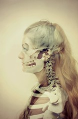 X-Ray (alicehopedenny) Tags: portrait people woman girl skeleton photography death skull scary exposure experimental body double structure spooky human xray bones multiple inside concept seethrough conceptual biology