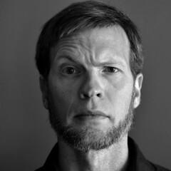 Skeptical_BW (plaskota) Tags: white black robert look beard nikon texas fort amish skeptical worth nikkor selfie 2014 skeptic d90 plaskota