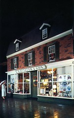 First Hutzler Store of 1858 Baltimore MD (Edge and corner wear) Tags: history window public promotion retail vintage corporate store pc md display postcard maryland exhibit baltimore storefront historical publicity department relations exhibitry