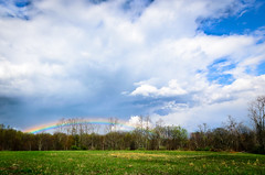 Rainbow Meadow (sam & anne hong) Tags: statepark rain landscape spring rainbow cloudscape ohiopyle